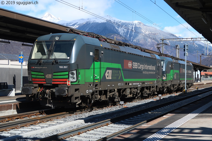 sguggiari.ch - FFS Cargo International BR 193 256 e 257 a Giubiasco