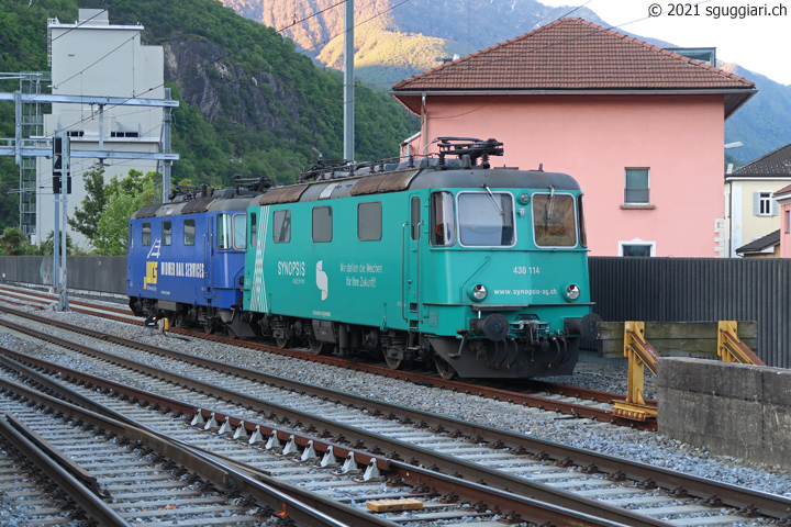 WRS Re 430 114-9 'Synopsis' e Re 430 111-5