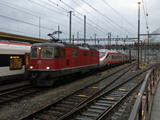 sguggiari.ch - FFS Re 4/4 II 11192 con parte dell'ETR 610 002 TI incidentato a Lucerna a Bellinzona